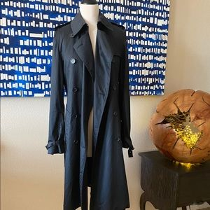 Vintage Classic Long Burberry black trench coat